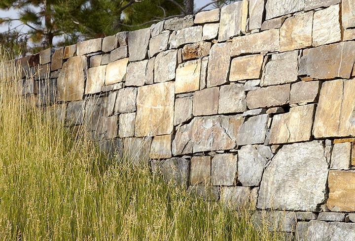 Dry Stack Stone Wall Dream Home Ideas Pinterest