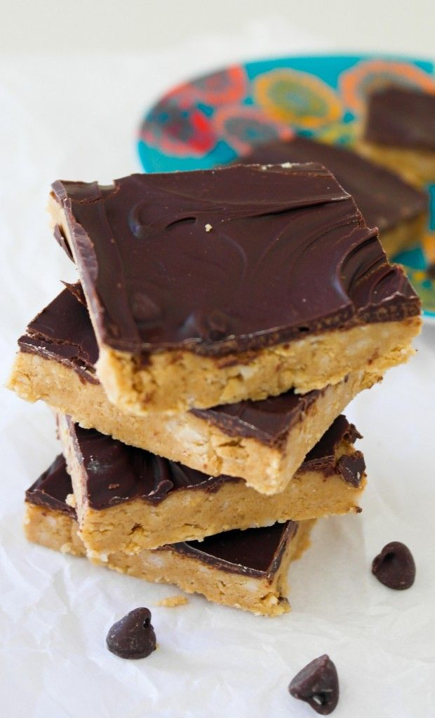 Chocolate Peanut Butter Oatmeal Bars | Recipe