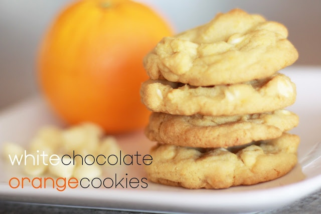 White Chocolate Orange Cookies (Dreamsicle in a cookie!)