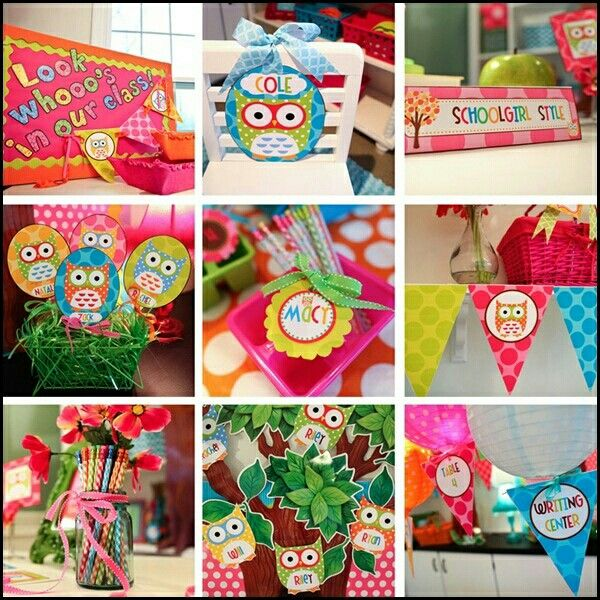 Owl Classroom Decoration Ideas : Owl decorations classroom theme pinterest