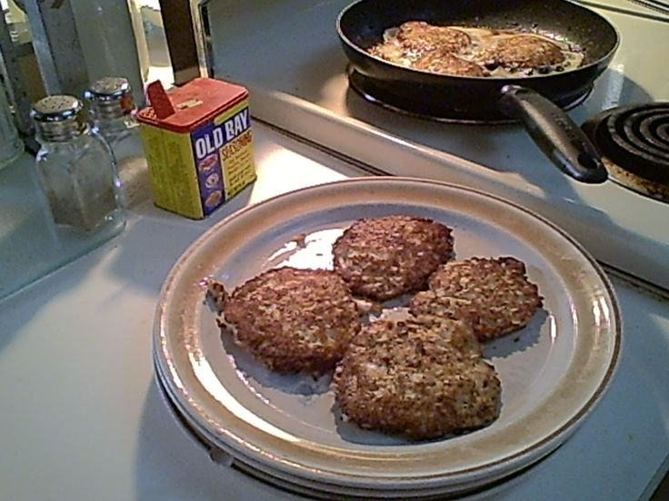 Gluten-Free Crab Cakes - so simple to stir together, shape and sauté.