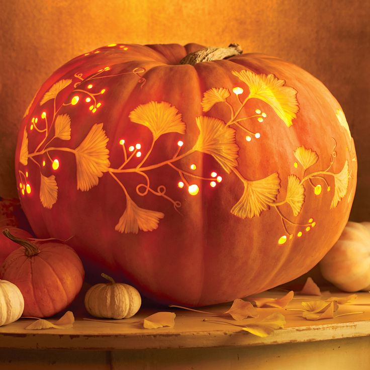 An elegant twist on pumpkin carving penchant for