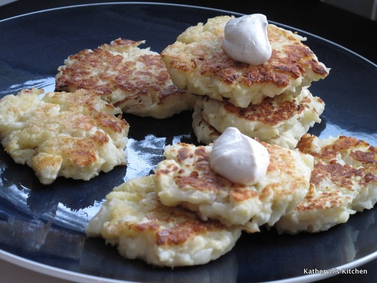 Cauliflower Feta Fritters | Yummy Food..... | Pinterest