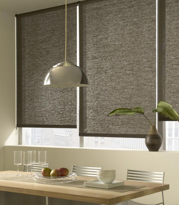 simple window treatments in textured fabrics