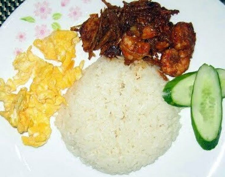 "Coconut Rice! ""NASI LEMAK IN MALAY LANGUAGE IN MALAYSIA ~ ~ ~ A ..."