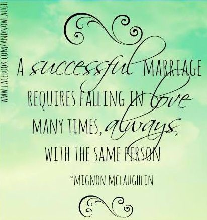 SO lucky that I fall in love everyday of my life with my husband Successful marriage quote via www.Facebook.com/AndNowLaugh