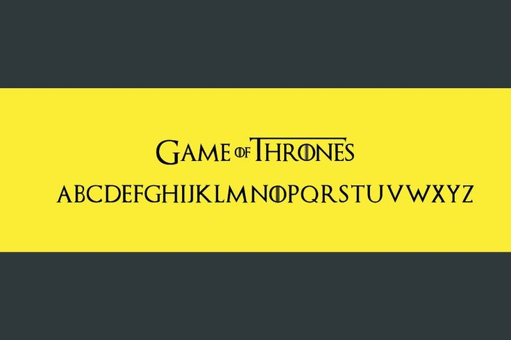 game of thrones text fonts