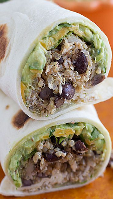 ... Chicken and Black Bean Burritos with Chipotle Guacamole | Reci