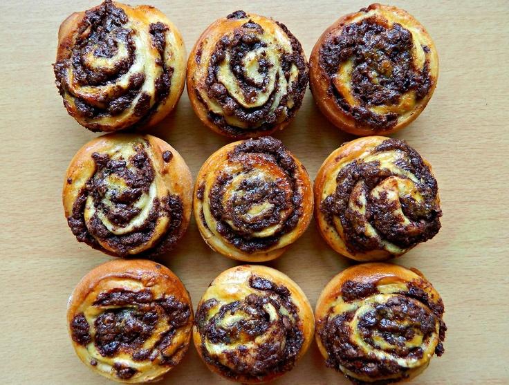 Chocolate Swirl Buns Recipe — Dishmaps