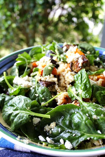 Quinoa Salad with Sweet Potato, Spinach, Roasted Eggplant and Feta ...
