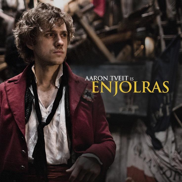 Les Mis  2012    Aaron Tveit stars as  Enjolras  in director Tom    Aaron Tveit Enjolras