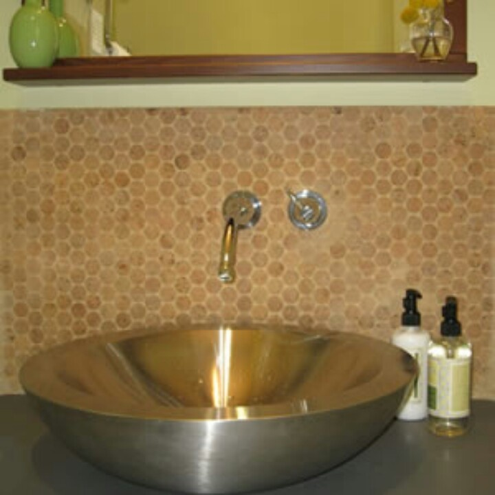 wine cork backsplash home decor pinterest