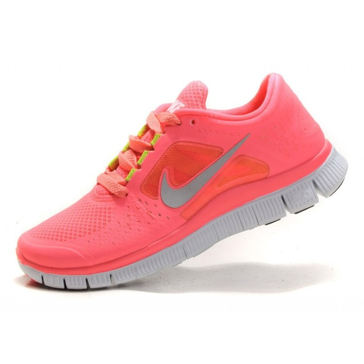 Nike Free Run+ 3 Womens Running Shoes - Pink/Yellow/Grey