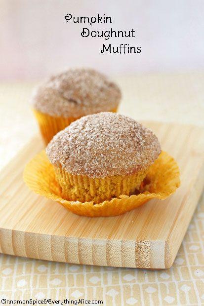 Pumpkin Doughnut Muffins. Made with butter, flour, baking powder ...