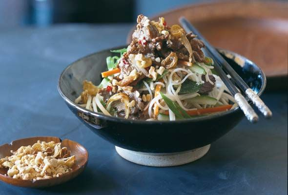 Vietnamese Beef and Rice Noodle Salad via Leites Culinaria aka my new ...