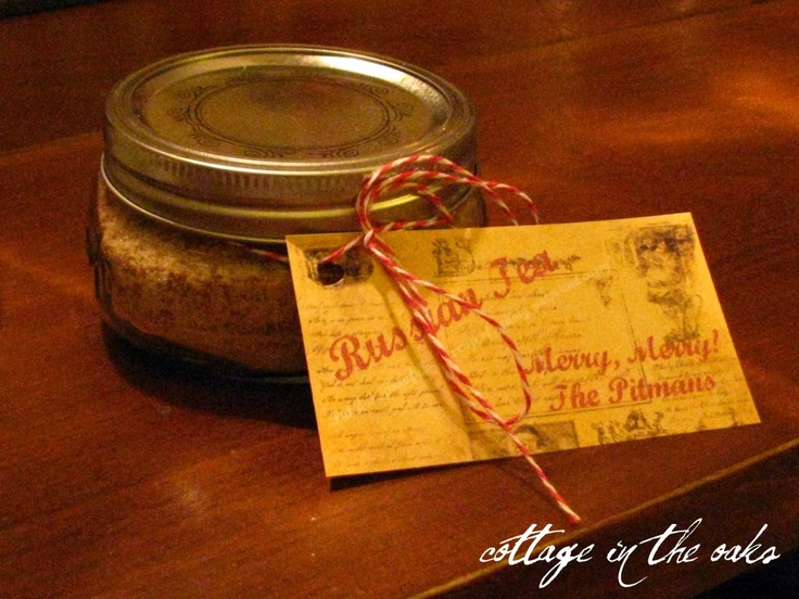 Russian Tea mix recipe and free pdf printable recipe card for gift giving