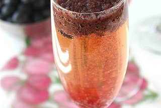 Blueberry Bellini Cocktail — Punchfork | It's 5 O' Clock Somewhere ...