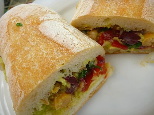 Smashed Chickpea Greek Salad Sandwich Recipes — Dishmaps