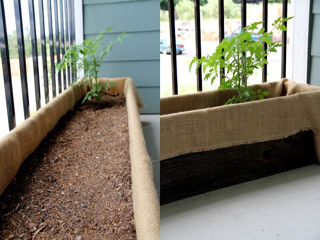 Diy Planter With Burlap Liner Creating My Own Food With