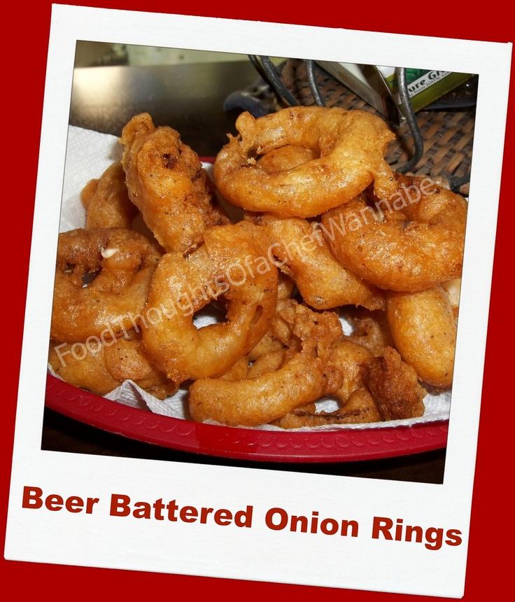 Homemade Beer Battered Onion Rings | Yummy food stuff! | Pinterest