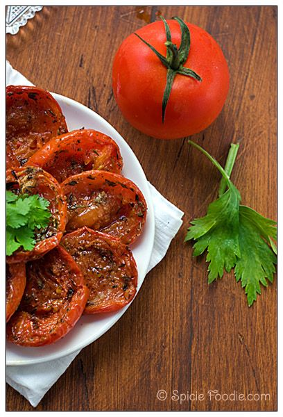 Oven roasted tomatoes...why not? | ~Fruits and More 1~ | Pinterest
