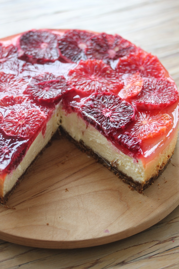 blood orange cheesecake | Sweets | Pinterest