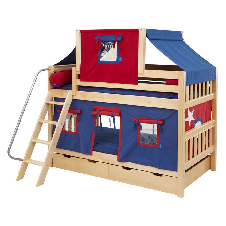 hot hot twin over twin deluxe tent bunk bed www. Black Bedroom Furniture Sets. Home Design Ideas
