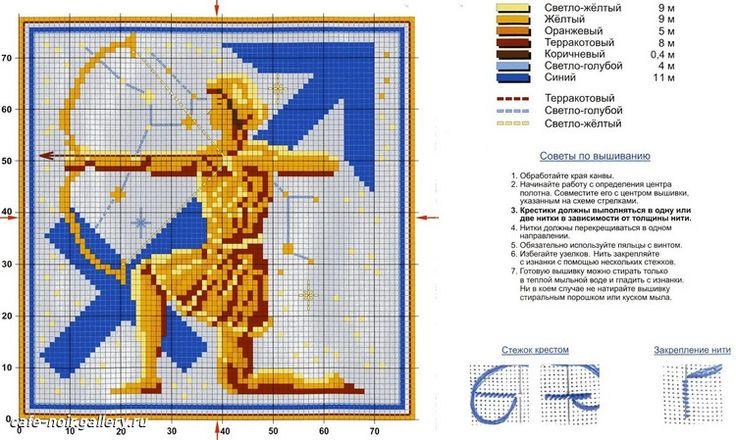 Вышивки знаки зодиака схемы 16