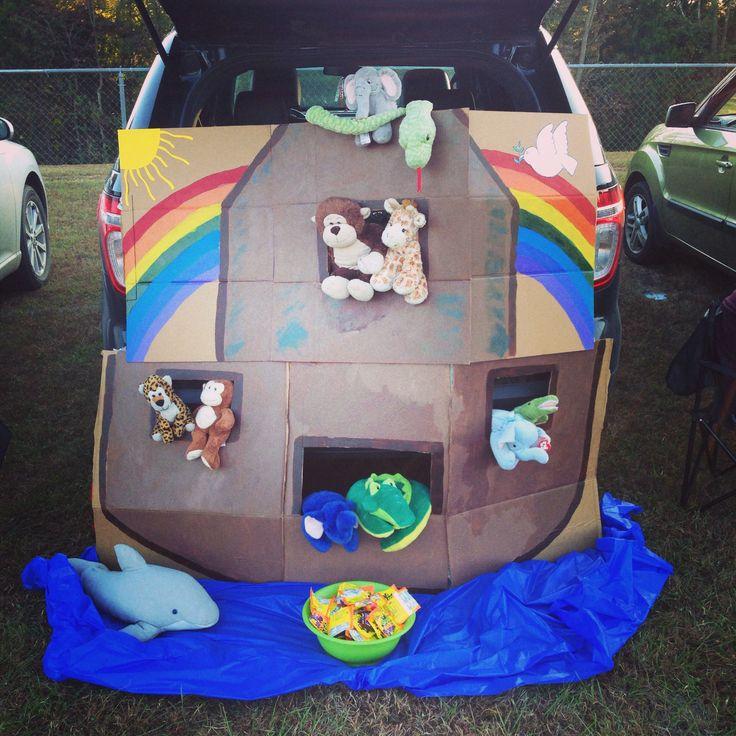 Trunk or treat noah 39 s ark trunk or treat ideas pinterest for Noah s ark decorations
