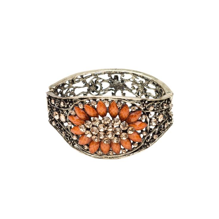 I love the Mocha Stone Embellished Bracelet from LittleBlackBag