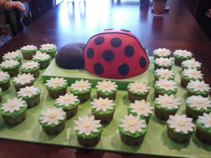 ladybug baby shower cake baby shower pinterest