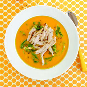 Spicy Sweet Potato Soup with Chicken - I have a bunch of sweet ...