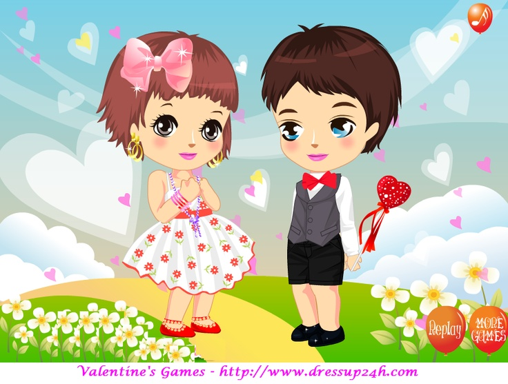 valentine games dress up