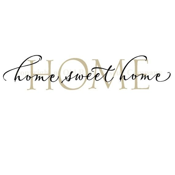 Above front doorhome sweet home vinyl wall graphic decal by