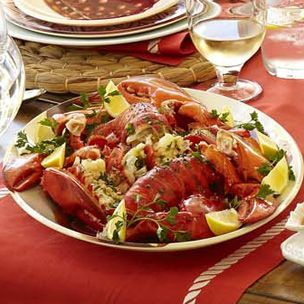 Cedar-Planked Lobster Tails with Compound Butter - This butter is ...