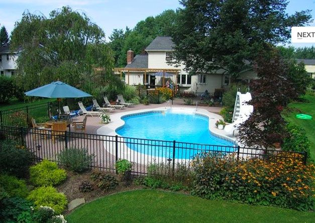 Pool fence landscaping dream home pinterest - Pool fence landscaping ideas ...