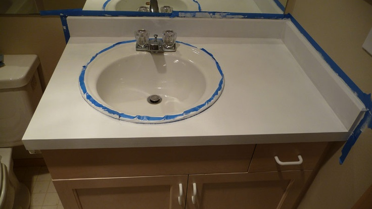 Laminate Countertop Paint Ideas : painting laminate countertop Beautiful bathroom ideas Pinterest