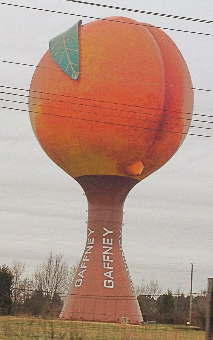 Life Of Pi >> Giant Peach Water Tower..South Carolina | ~*~Twinkles Of Life~*~ | Pi…