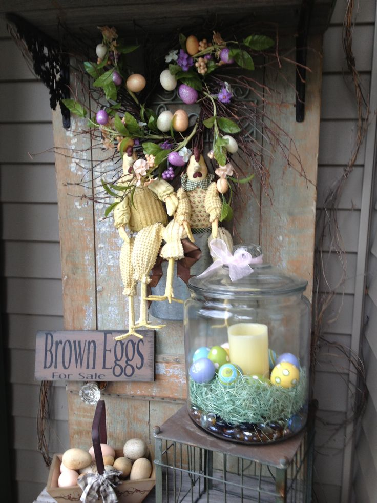 Easter decorations antique decorating pinterest for Easter decorations for the home pinterest