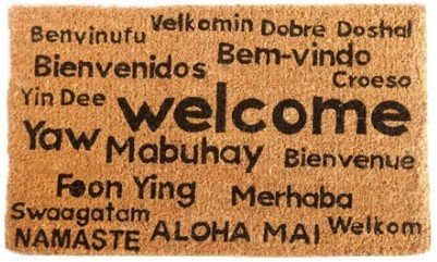 Multilingual Welcome Coco Mat