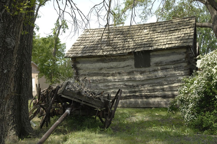 Log Cabin Old Wagon Cabins Pinterest