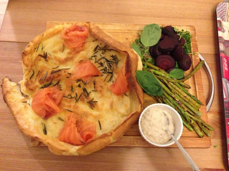 ... His Food Processor: Smoked Salmon, Yorkshire Pud, Beets and Asparagus