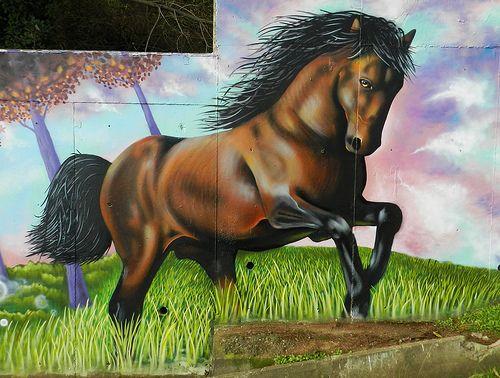... Horse | ART - Building and Wall Murals, Graffiti, and Trompe l'O