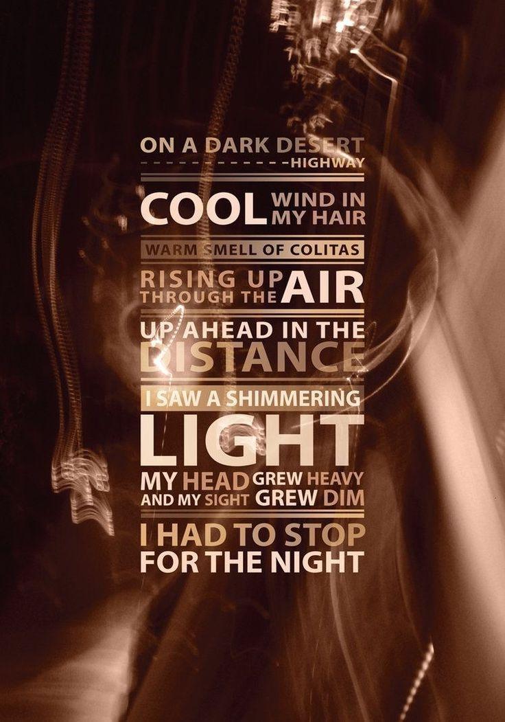 lyrics for hotel california: