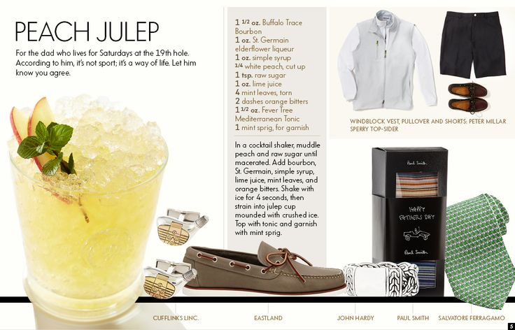 Peach Julep | It's Five O' Clock Somewhere | Pinterest