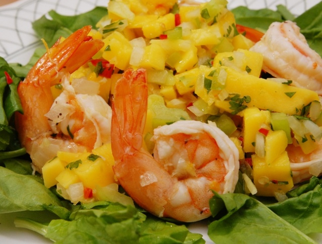 Shrimp with Mango Salsa | Yummy Food and Drinks! | Pinterest