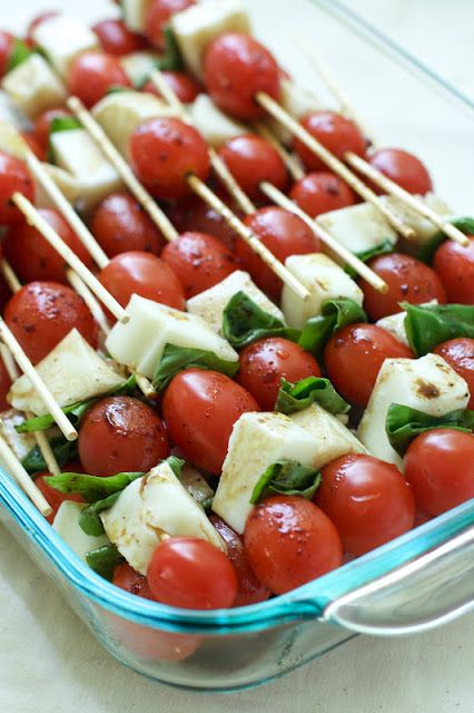 Caprese Salad Skewers : Oven Love | food | Pinterest