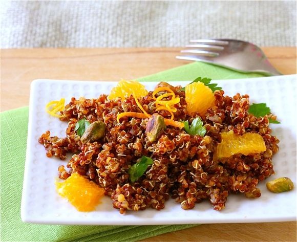 Red Quinoa Salad With Citrus and Pistachios - Liz the Chef