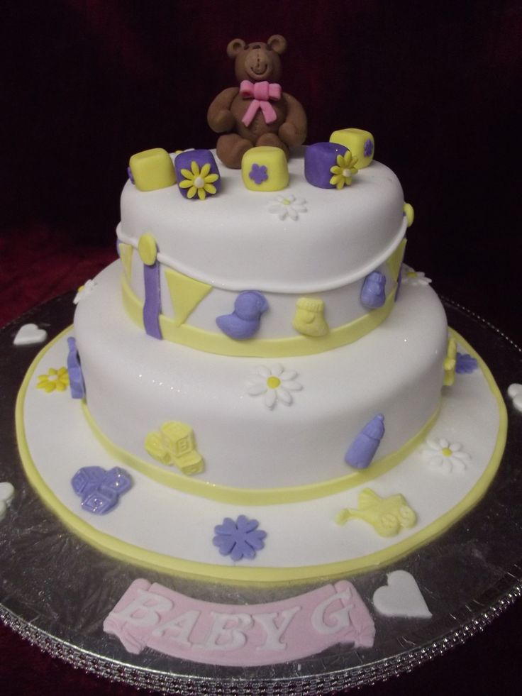 BABY SHOWER 2 TIER CAKE FOR A BABY GIRL Baby shower cakes in Auckland ...