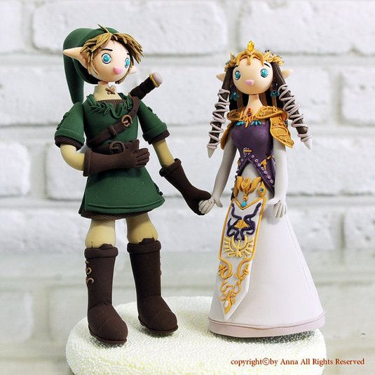 Cool And Nerdy Wedding Cake Toppers